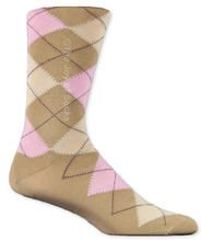 Camel & Pink Cotton Argyle