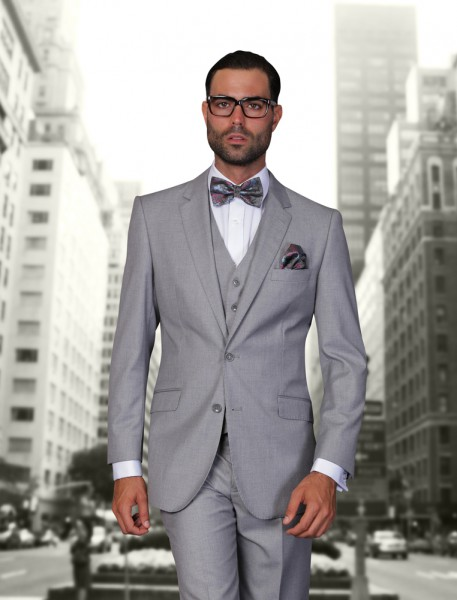 Caravelli Silver Grey Slim Fit Suit