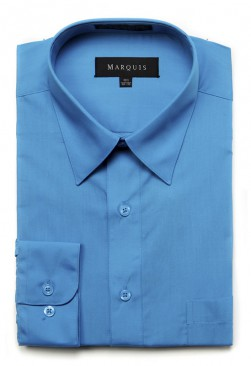 Caribbean Blue Dress Shirt
