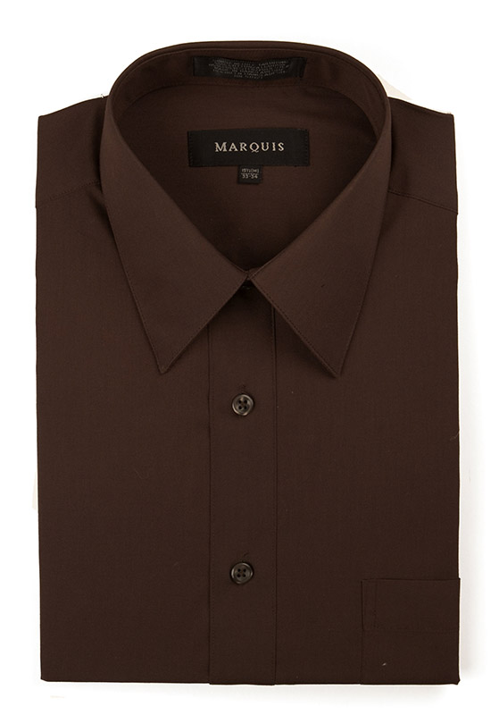 Chocolate Brown Mens Dress Shirt