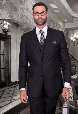 Fiorelli Black Vested Suit