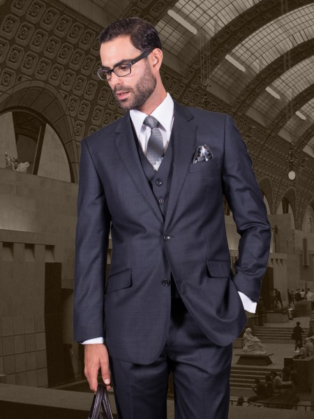 Fiorelli Charcoal Vested Suit