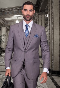 Fiorelli Light Grey Vested Suit