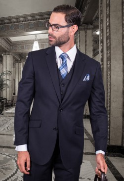 Fiorelli Navy Vested Suit