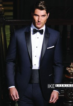 Ike Behar Navy Julian Check tuxedo
