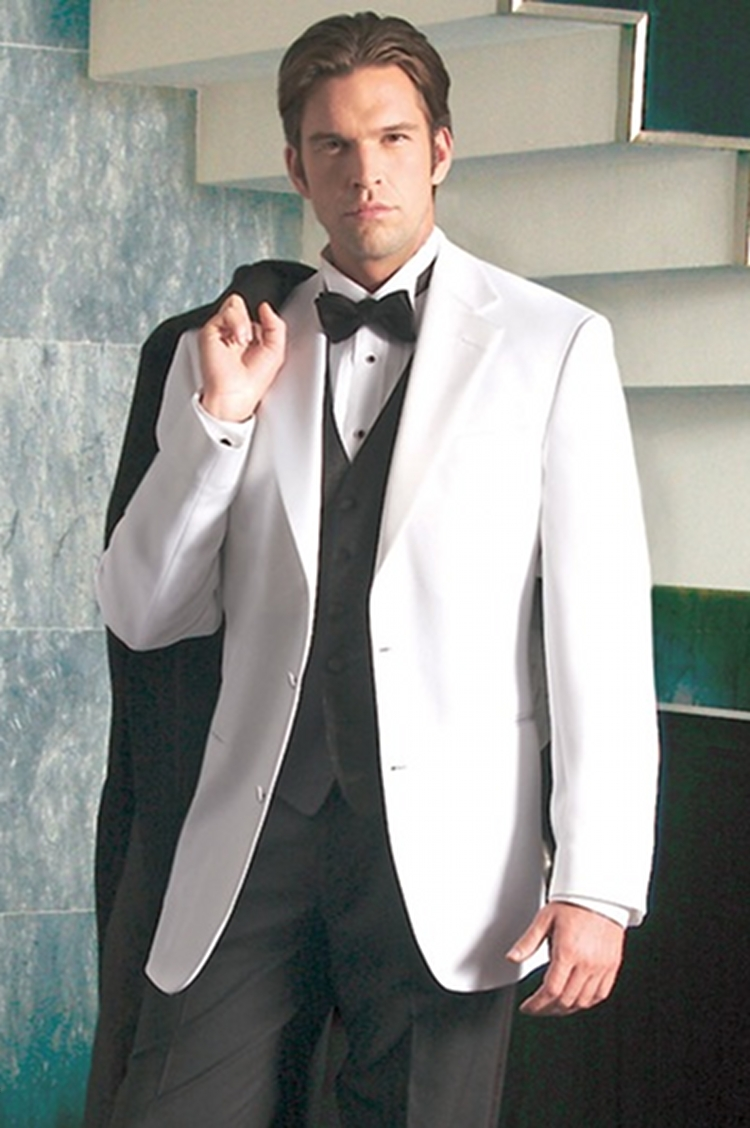 White Notch By After Six Top Hat Tuxedo