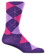 Purple & Pink Cotton Argyle