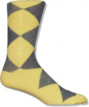 Yellow Cotton Argyle