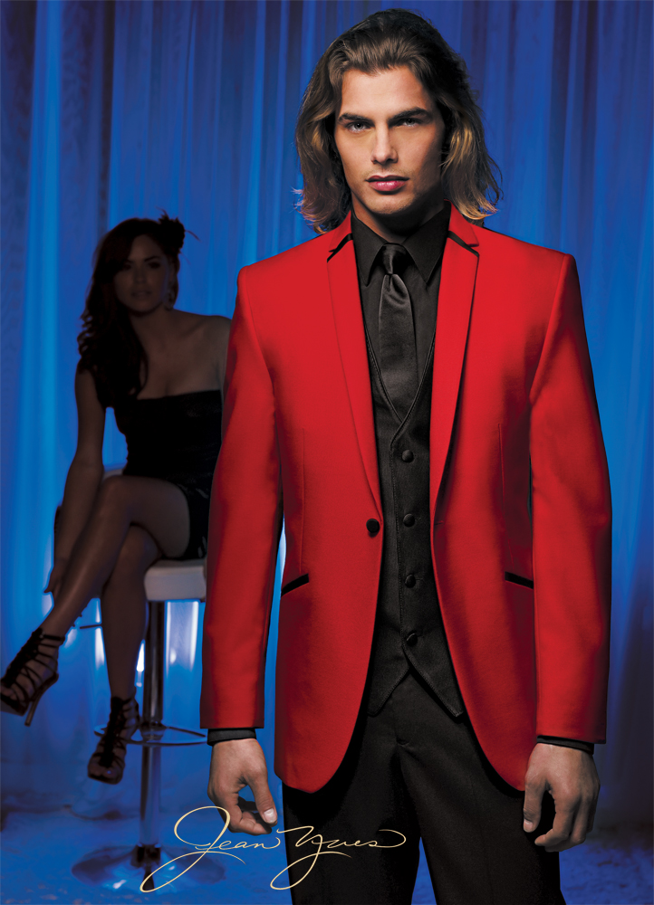 Jean Yves Red Illusion Top Hat Tuxedo