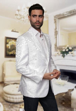 Mens-Shiny-White-Jacket-22306